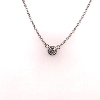 Diamond by the yard single stone necklace