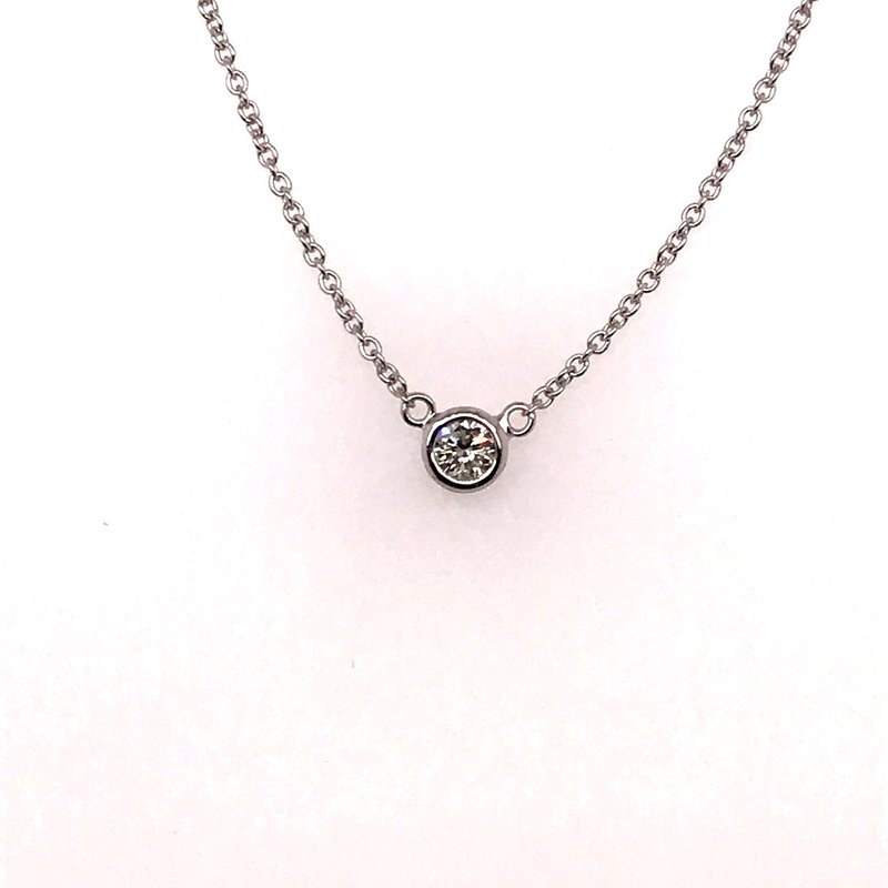 Hartgers Collection Diamond by the yard single stone necklace