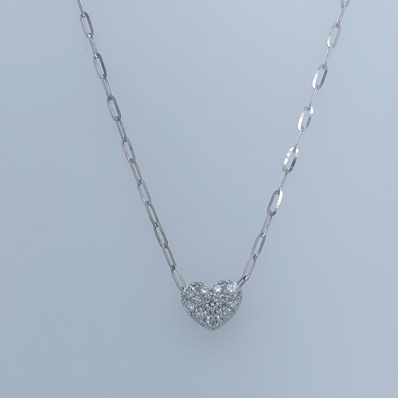 Holiday Collection Petite diamond heart necklace