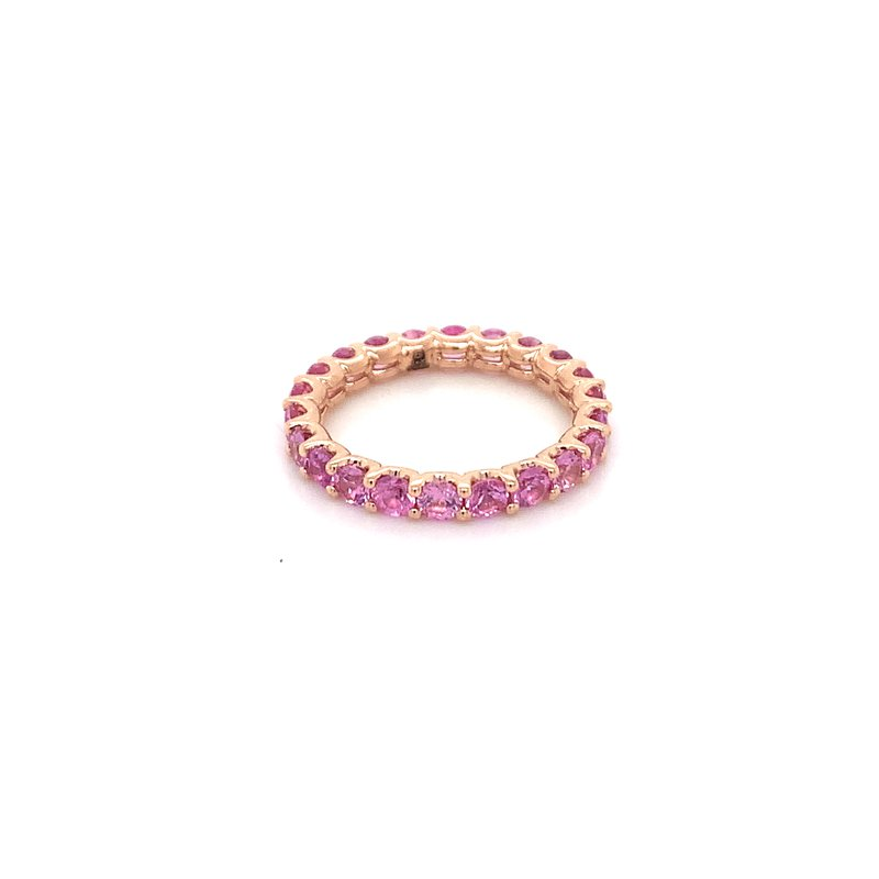 Holiday Collection Pink sapphire eternity band in rose gold
