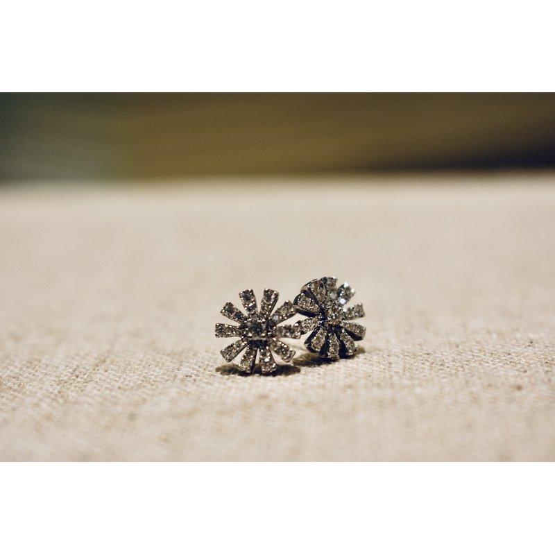 Hartgers Collection Diamond Starburst Earrings