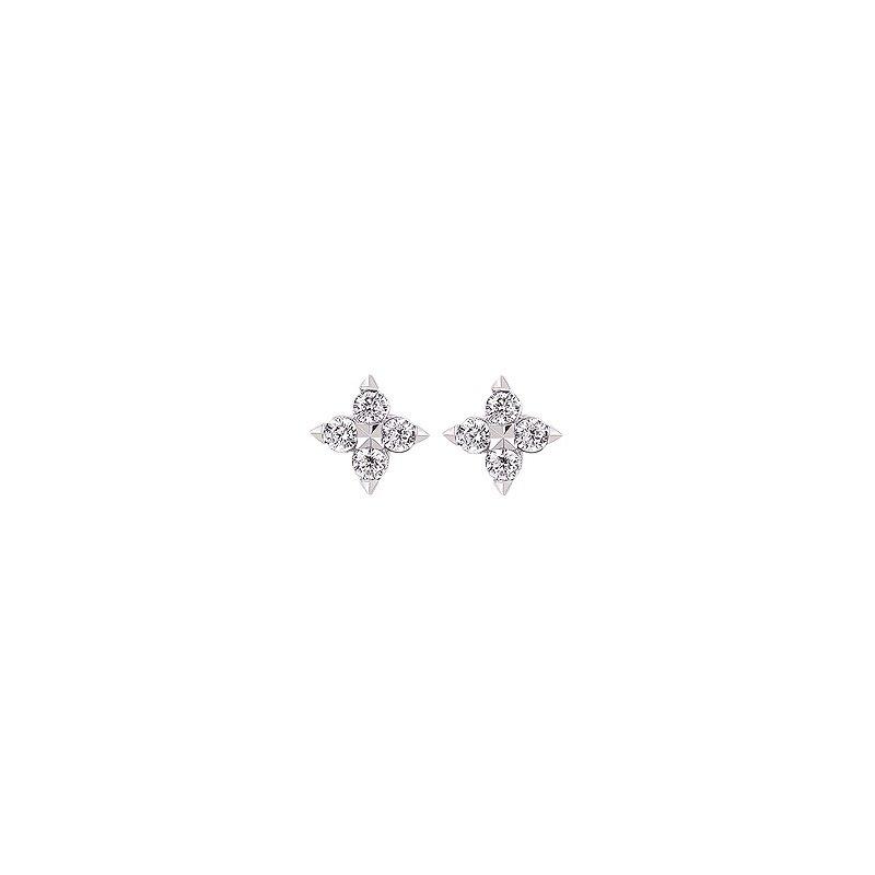 Holly McHone Jewelers 14K White Gold & Diamond Stud Earrings