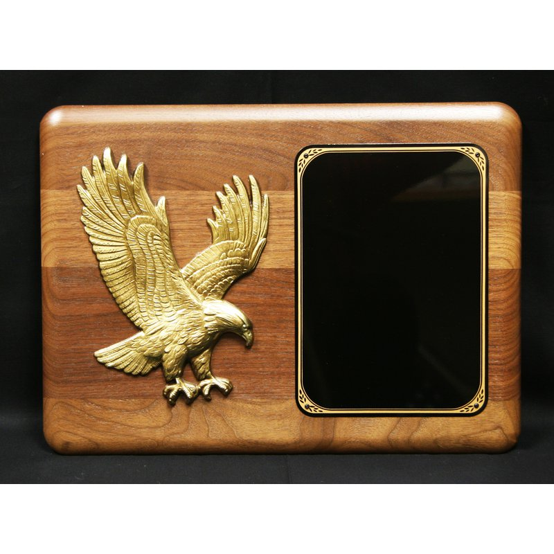 Plaques & Awards Walnut Plaque with Eagle