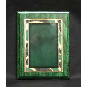 Green Woodgrain Finish with Plate