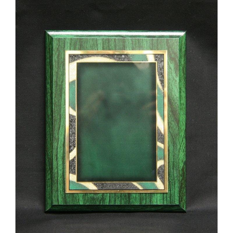 Plaques & Awards Green Woodgrain Finish with Plate