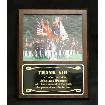 Cherry Finish Photo Plaque
