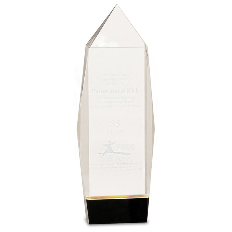 Plaques & Awards Crystal Facet Rectangle