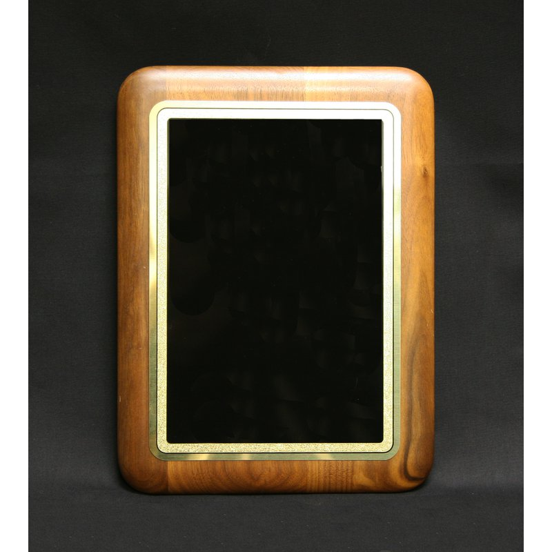 Plaques & Awards Walnut Plaque with Rounded Corners