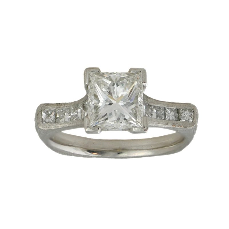 Michael Endlich Designs Diamond (1.84ct) Ring with Diamond Accents in Platinum