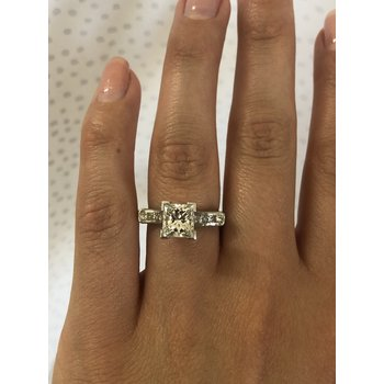 Diamond (1.84ct) Ring with Diamond Accents in Platinum
