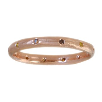 18K Rose Gold and Autumn Diamonds Band