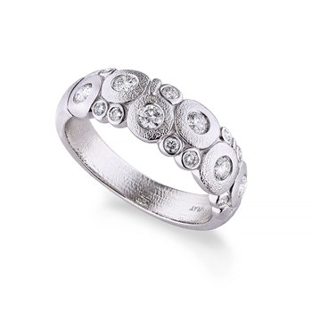 """Candy"" Dome Ring with Diamonds in Platinum"