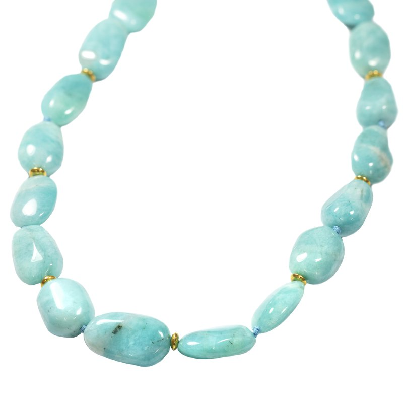 Pavé Fine Jewelry Amazonite Necklace with Gold