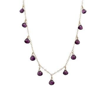 Purple Garnet Briolette Necklace