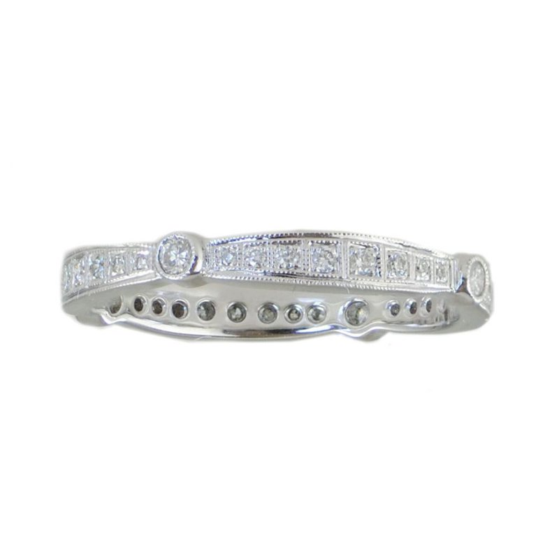 Extended Collection Diamond Band in 18K White Gold