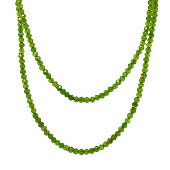 Chrome Diopside Necklace (26 inches)
