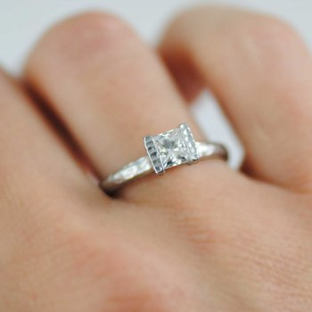 Diamond (0.55ct) Ring in Platinum