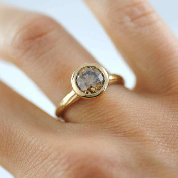 Champagne Diamond (2.04ct) Ring in 18K Yellow Gold
