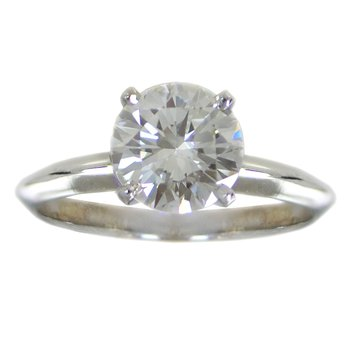 Diamond (1.37ct) Ring in White Gold