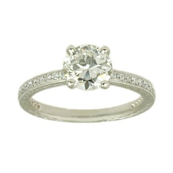 Vintage Inspired Diamond (1.02ct) Ring in Platinum