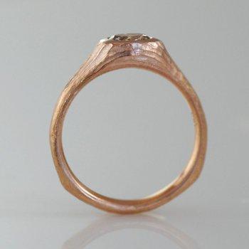 Light Cognac Diamond (0.42ct) Ring in 18K Rose Gold