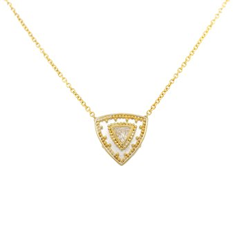 Diamond Necklace in Silver and Gold