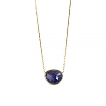 Tanzanite Necklace in 18K Yellow Gold