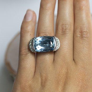 Aquamarine (19.05ct) Platinum Ring