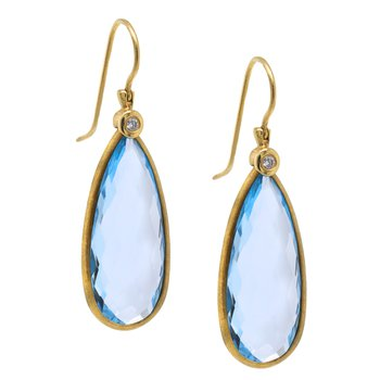 Blue Topaz Pear Shaped Earrings