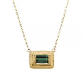 Tourmaline (1.85ct) Necklace in 22K and 18K Yellow Gold