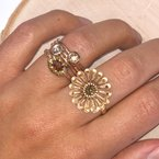 Michael Endlich Designs Cognac Diamond (0.81ct) & Diamond Accents Ring in 14K Rose Gold