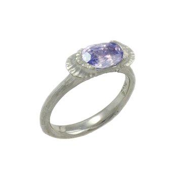 Lavender Sapphire (1.65ct) Ring in Platinum