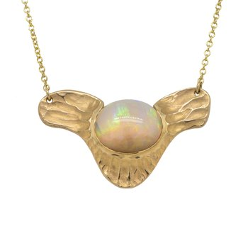 Opal (7.20ct) Statement Necklace in 18K Gold