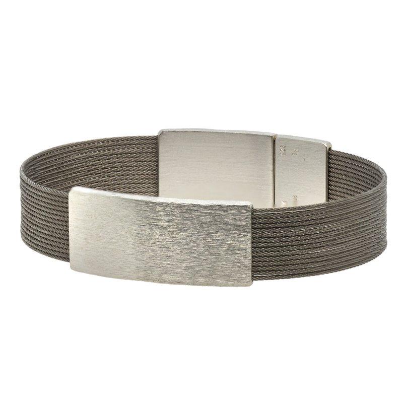 Bernd Wolf Stainless Steel & Sterling Silver Bracelet