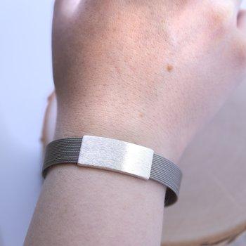 Stainless Steel & Sterling Silver Bracelet