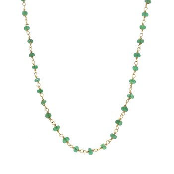 Emerald Beads Gold Necklace