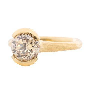 Light Brown Diamond (2.11ct) Ring in 18K Gold
