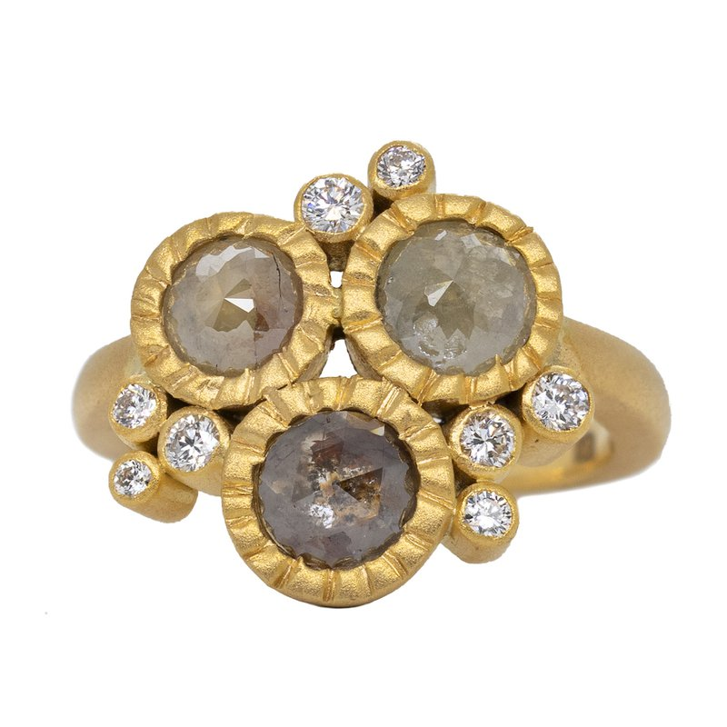 Extended Collection Diamond Cluster Ring