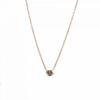 18K Rose Gold Kite Shaped Diamond (0.17ct) Necklace