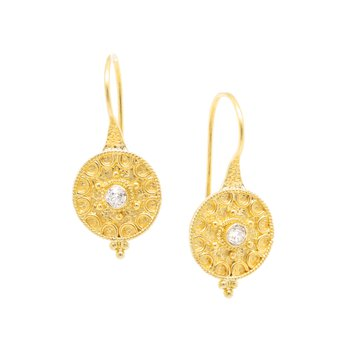 Diamond Earrings in 18K Gold