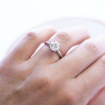 Diamond (1.75ct) Ring in Platinum