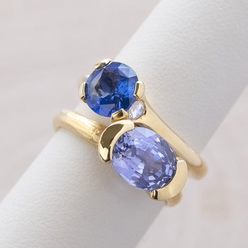 Sapphire (3.16ct)  Ring 18K Gold
