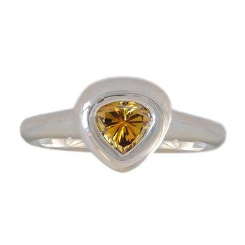 Cognac Diamond (0.65ct) Ring in Platinum