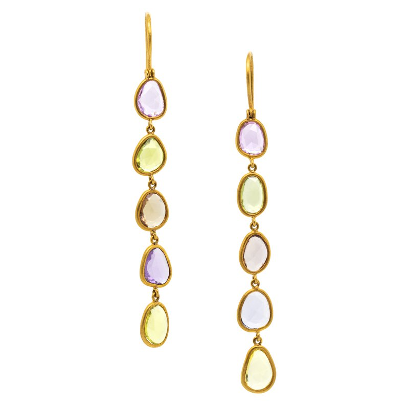 Extended Collection Multicolored Sapphire Earrings