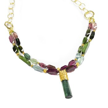 Tourmaline Double Strand Necklace