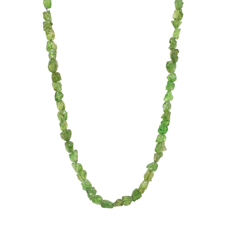 Michael Endlich Designs Tsavorite Garnet Necklace with 18K Gold Clasp