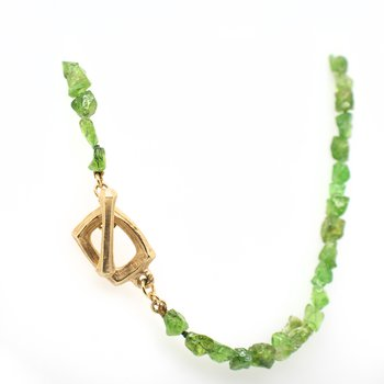 Tsavorite Garnet Necklace with 18K Gold Clasp