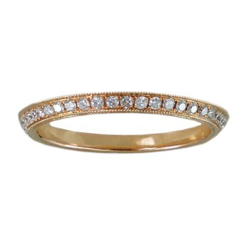 Eternity Angled Band in 18K Rose Gold