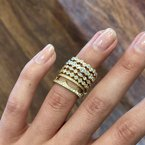 """Extended Collection """"Crown"""" Band in 18K Yellow Gold"""