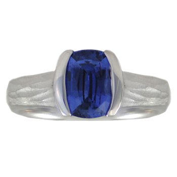 Sapphire (1.63ct) Ring in Platinum